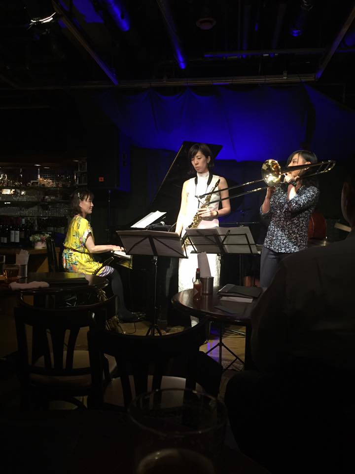 12日は西山友望(tb)服部莉佳(as)+ Dear Blues @ Swing
